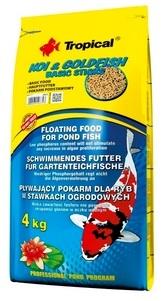Zdjęcie Tropical Koi & Goldfish Basic Sticks worek pokarm pływający dla koi i złotych ryb 4kg (50l)