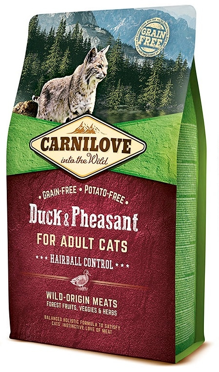 Carnilove Adult Cat Duck & Pheasant Hairball Control  400g