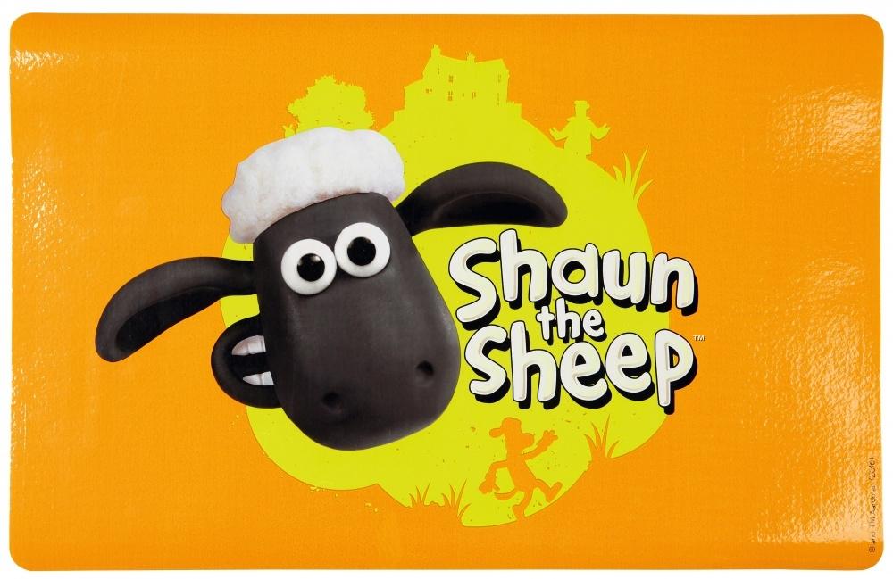 Trixie Podkładka pod miski seria Shaun the Sheep pomarańczowa z owieczką 44 x 28 cm