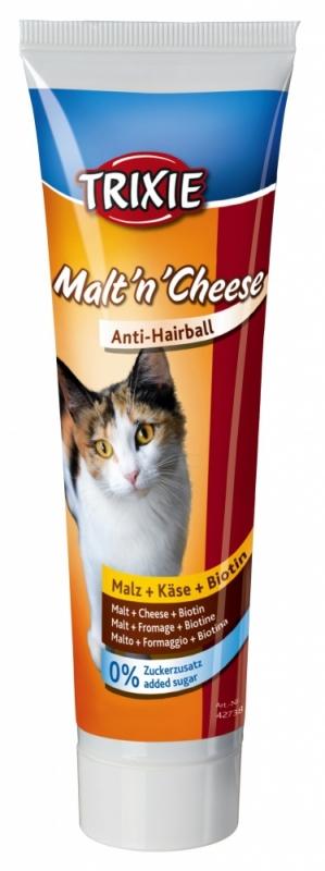 Trixie Cat Malt 'n' Cheese pasta odkłaczająca z serem i biotyną 100g