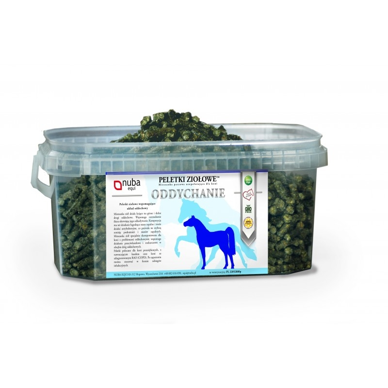 Zdjęcie Nuba Equi Peletki ziołowe  oddychanie 1.3kg