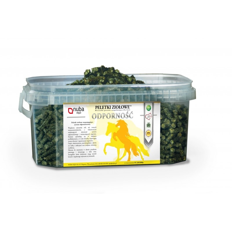 Zdjęcie Nuba Equi Peletki ziołowe  odporność 1.3kg