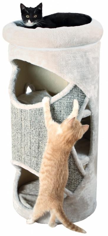 Trixie Drapak wieża dla kota Gracia jasnoszara 38 x 85 cm