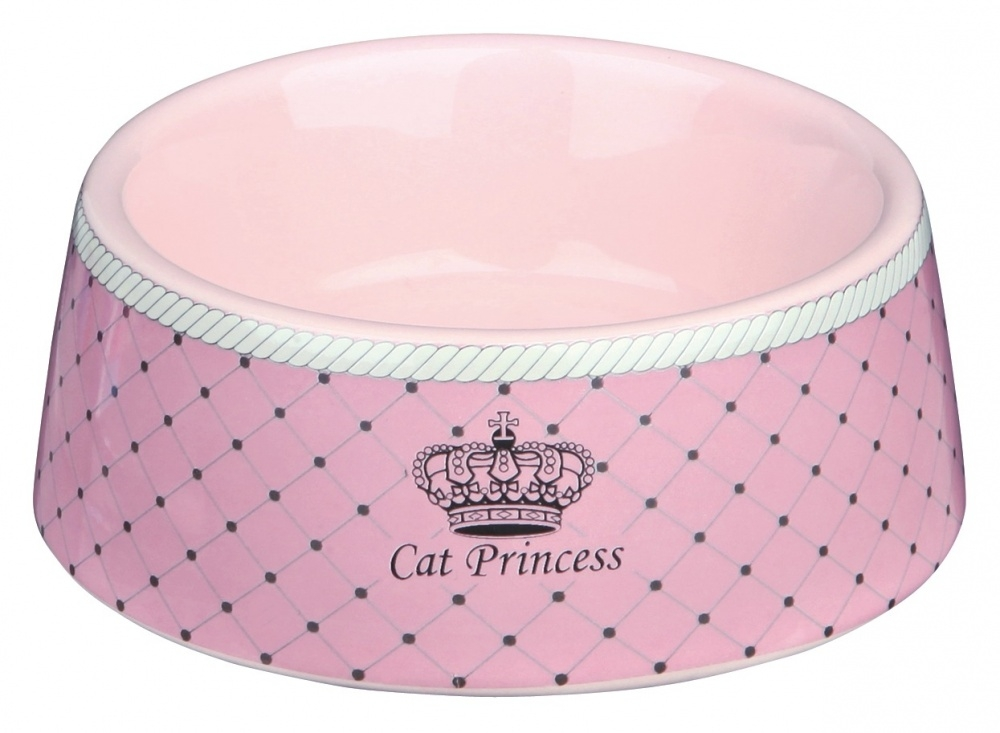 Trixie Miska ceramiczna Cat Princess różowa 0,18 l/ø 12 cm