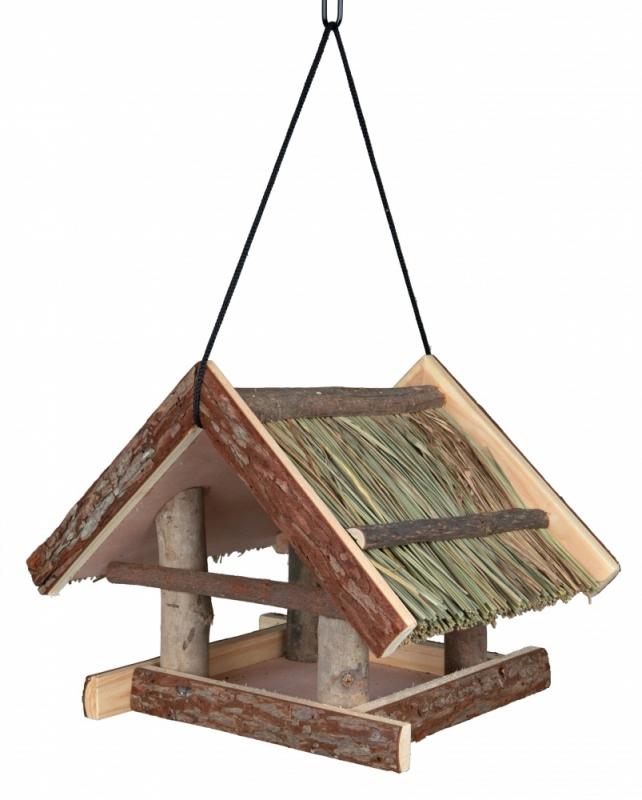 Zdjęcie Trixie Drewniany karmnik ogrodowy dla ptaków Natural Living zawieszany 25 x 25 x 25 cm