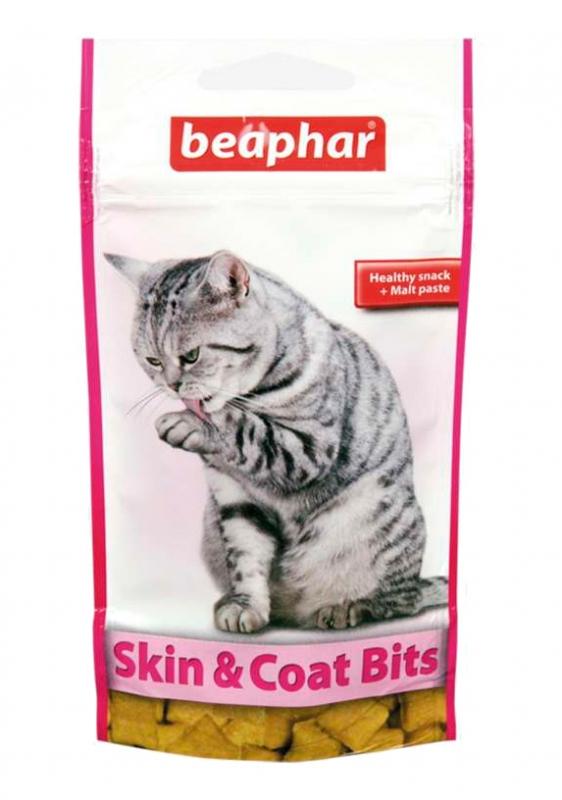 Beaphar Skin & Coat Bits przysmaki dla zdrowej skóry i sierści 35g
