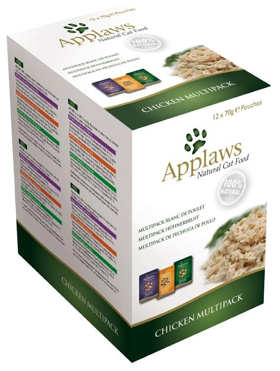 Applaws Multipak saszetek dla kota w sosie z kurczakiem 12x70g