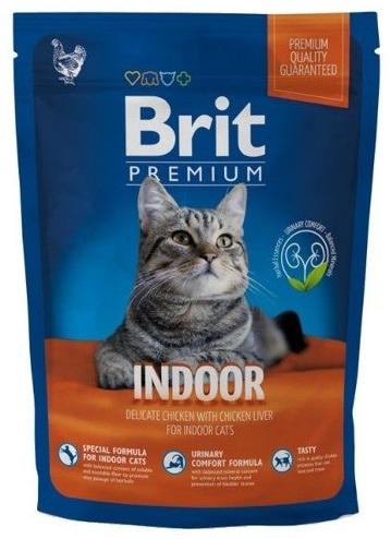 Brit Premium Cat Indoor kurczak i ryż 300g