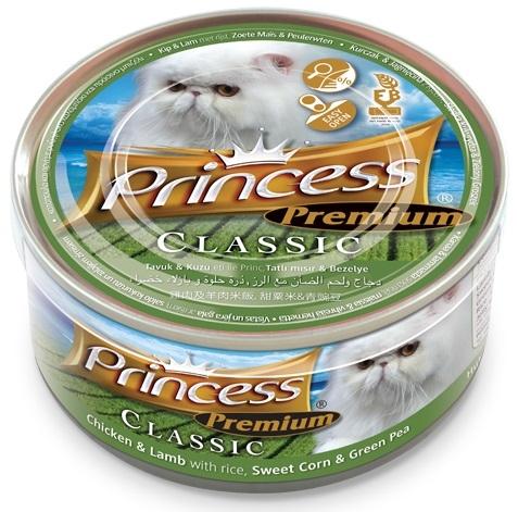 Princess Premium Cat Classic puszka kurczak, jagnięcina i kukurydza z groszkiem 170g