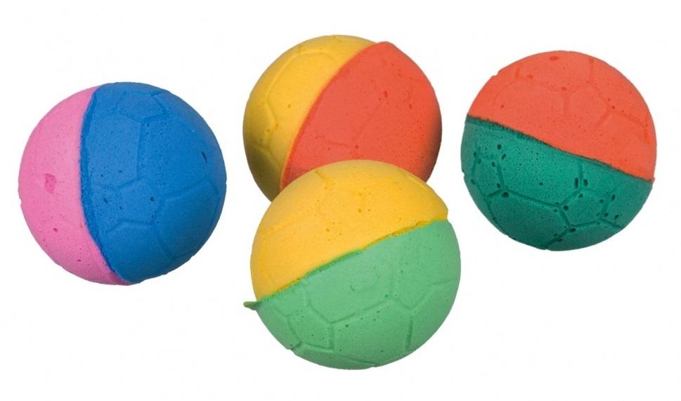 Zdjęcie Trixie Piłki futbolowe miękkie z gąbki   4 szt.