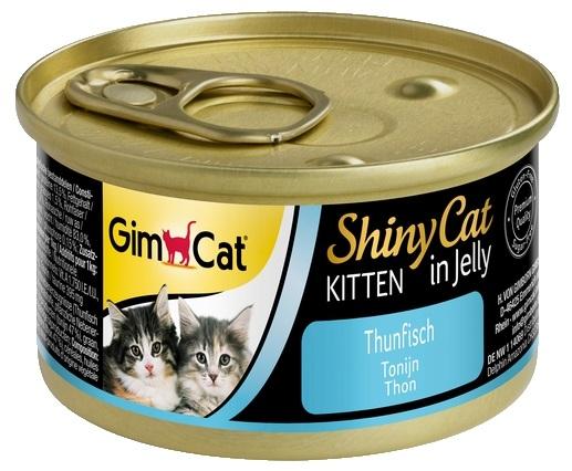 Gimcat ShinyCat Kitten puszka dla kociąt w galaretce tuńczyk 70g
