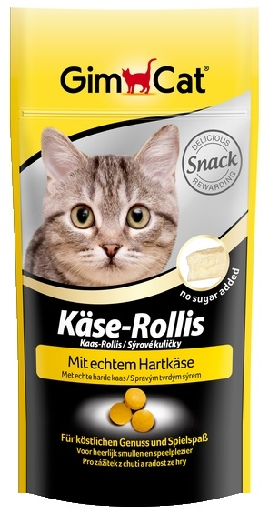 Gimcat Kase Rollis pastylki serowe dla kota 40g (80 szt.)