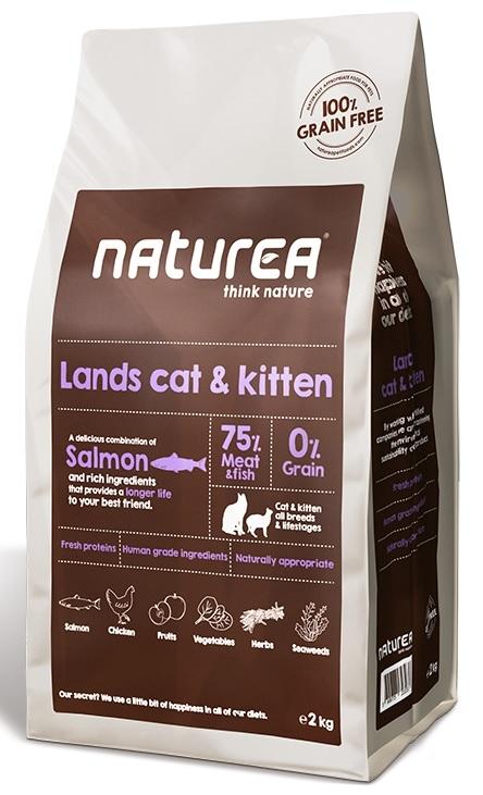 Naturea Lands Cat and Kitten Grain Free karma sucha 350g