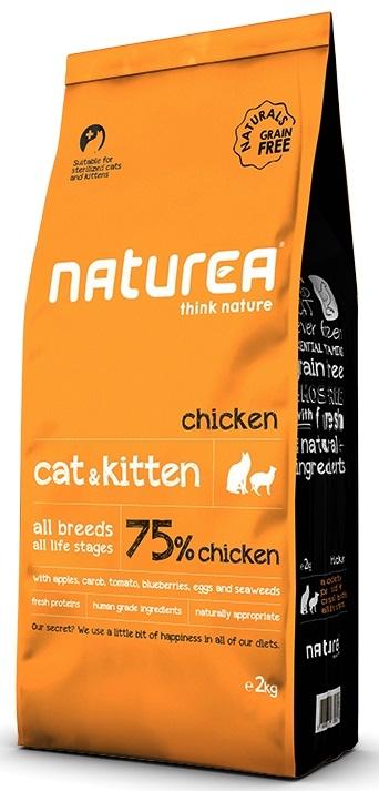 Naturea Naturals Cat and Kitten 75% Chicken Grain Free karma sucha 7kg