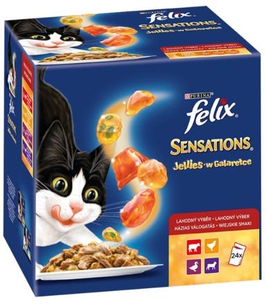 Zdjęcie Felix Megapak Saszetek Sensations Mix w galaretce Wiejskie smaki 24x100g