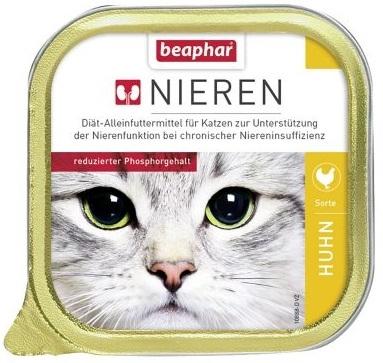 Beaphar Nieren + niewydolność nerek tacka dla kota z piersią z kurczaka 100g