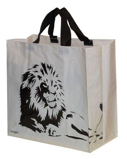 Zdjęcie Fraspo Torba Animals duża 24 litry  biała z lwem 35 x 20 x 35 cm