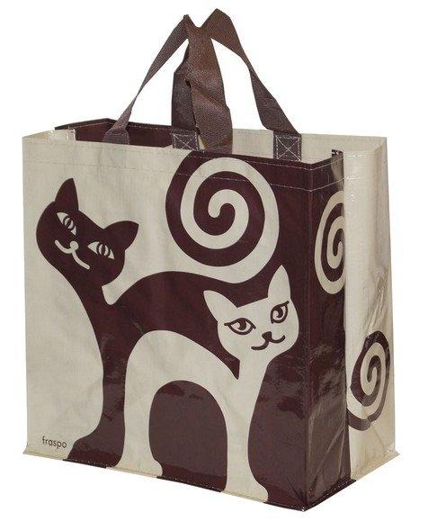 Zdjęcie Fraspo Torba Animals duża 24 litry  zakręcone koty beżowo-brązowa 35 x 20 x 35 cm