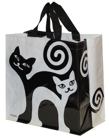 Zdjęcie Fraspo Torba Animals duża 24 litry  zakręcone koty czarno-biała 35 x 20 x 35 cm