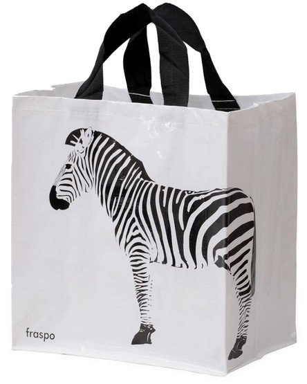 Zdjęcie Fraspo Torba Animals duża 24 litry  zebra biała 35 x 20 x 35 cm