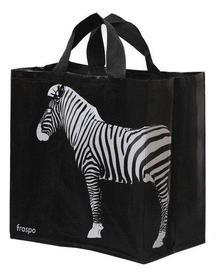 Zdjęcie Fraspo Torba Animals duża 24 litry  zebra czarna 35 x 20 x 35 cm
