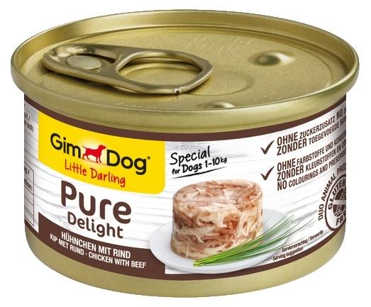 Zdjęcie Gimdog Little Darling Pure Delight puszka w galaretce kurczak z wołowiną 85g