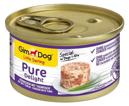Zdjęcie Gimdog Little Darling Pure Delight puszka w galaretce kurczak z tuńczykiem 85g
