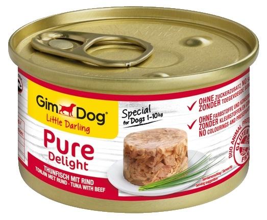 Zdjęcie Gimdog Little Darling Pure Delight puszka w galaretce tuńczyk z wołowiną 85g