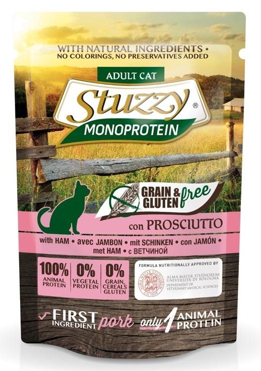 Zdjęcie Stuzzy Monoprotein Cat saszetka dla kota w sosie szynka 85g