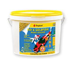 Zdjęcie Tropical Koi & Goldfish Basic Sticks  pokarm pływający dla koi i złotych ryb 5l