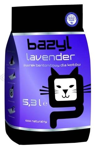 Zdjęcie Bazyl Żwirek Premium Lavender  dla kota 5.3l