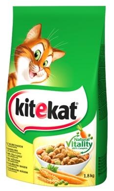 Kitekat Dla kotów dorosłych z kurczakiem i warzywami 1.8kg