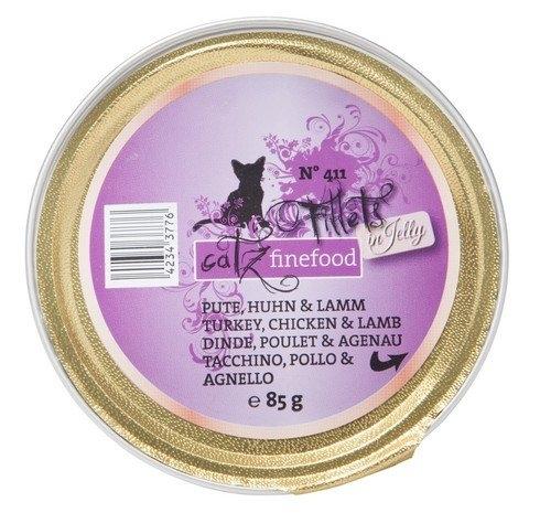 Catz Finefood N.411 Fillets in Jelly tacka indyk, kurczak i jagnięcina 85g