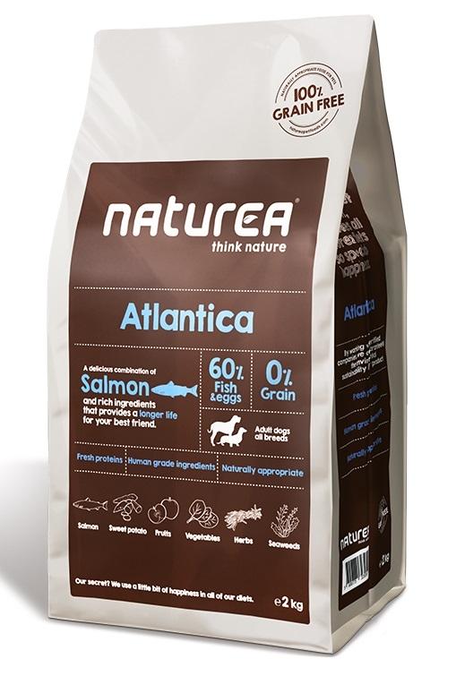 Zdjęcie Naturea Dog Atlantica Grain Free  świeży łosoś 12kg