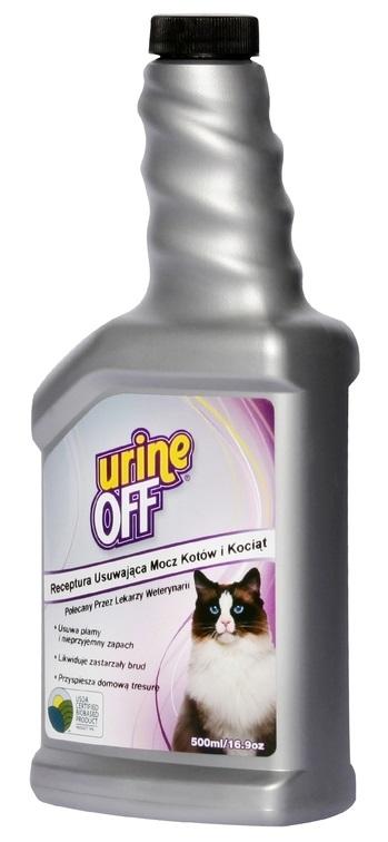 Urine Off Koty I Kocięta Roztwór Na Plamy Moczu 500ml