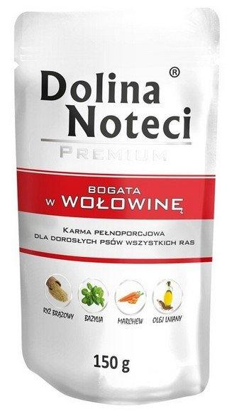 Zdjęcie Dolina Noteci Premium saszetka dla psa  wołowina 150g