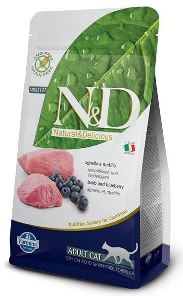 Farmina N&D Prime Grain Free Cat jagnięcina i borówki 300g