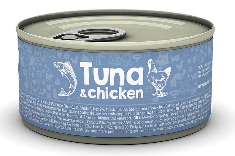 Naturea Puszka dla kota Tuna with Chicken kawałki w sosie tuńczyk z kurczakiem 85g