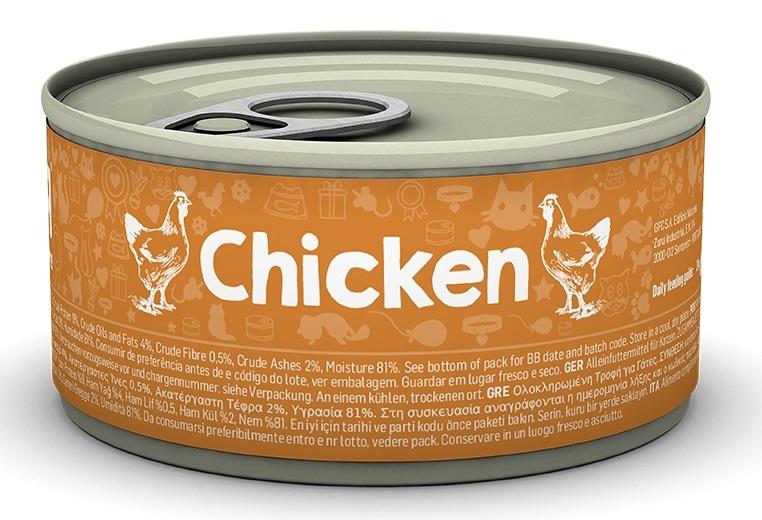 Naturea Puszka dla kota Chicken kawałki w sosie kurczak 85g