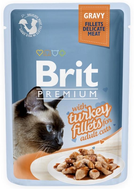 Zdjęcie Brit Premium Cat Adult saszetka w sosie z filetem z indyka 85g