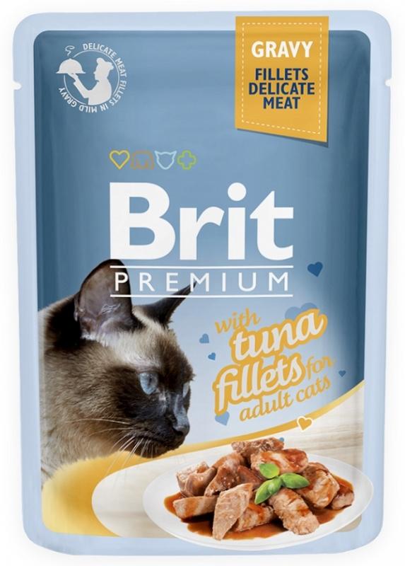Zdjęcie Brit Premium Cat Adult saszetka w sosie z filetem z tuńczyka 85g