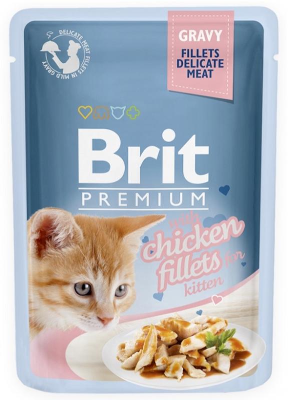 Zdjęcie Brit Premium Cat Kitten saszetka w sosie z filetem z kurczaka 85g