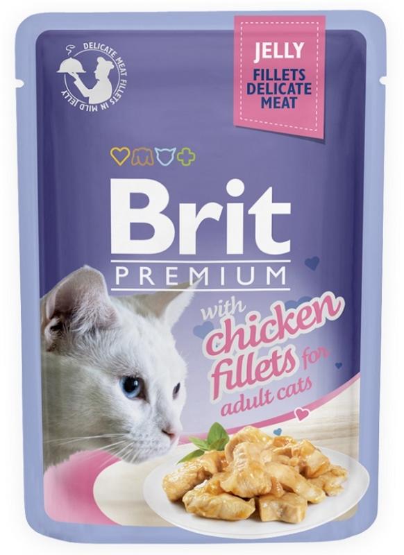 Brit Premium Cat Adult saszetka w galaretce z filetem z kurczaka 85g