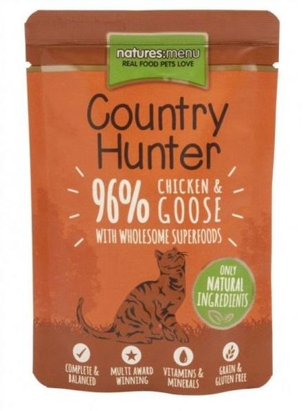 Natures Menu Country Hunter Cat saszetka Chicken and Goose z kurczakiem i gęsią 85g