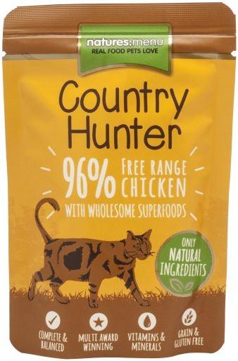 Natures Menu Country Hunter Cat saszetka Free Range Chicken z kurczakiem i sercami 85g