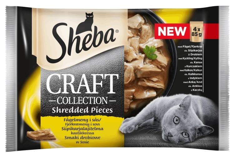 Zdjęcie Sheba Czteropak saszetek Craft Collection  smaki drobiowe w sosie  4 x 85g