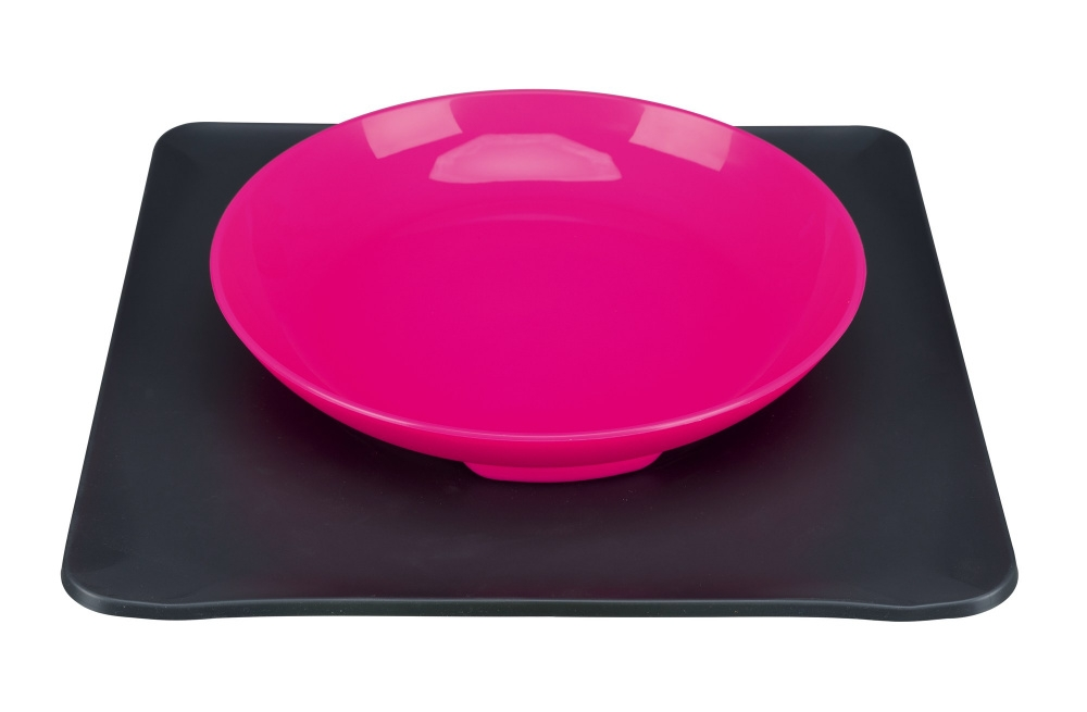 Trixie Yummynator miska na podstawce 0,4 l, różowa