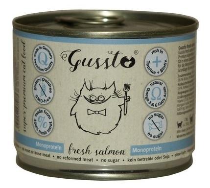 Zdjęcie Gussto Puszka dla kota Fresh Salmon świeży łosoś 190g