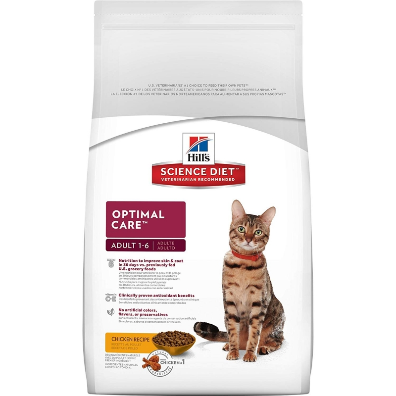 Hill's Feline Adult Optimal Care karma sucha kurczak 15kg