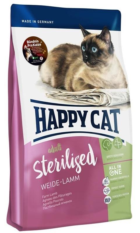 Happy Cat Adult Sterilised Farm Lamb z jagnięciną i drobiem 300g